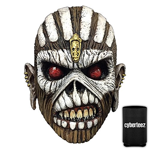 Iron Maiden Eddie Book of Souls Men's Latex Costume Overhead Mask + Coolie