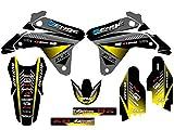 2006 suzuki rmz 450 graphics - Senge Graphics 2005-2006 Suzuki RMZ 450, Surge Black Graphics Kit