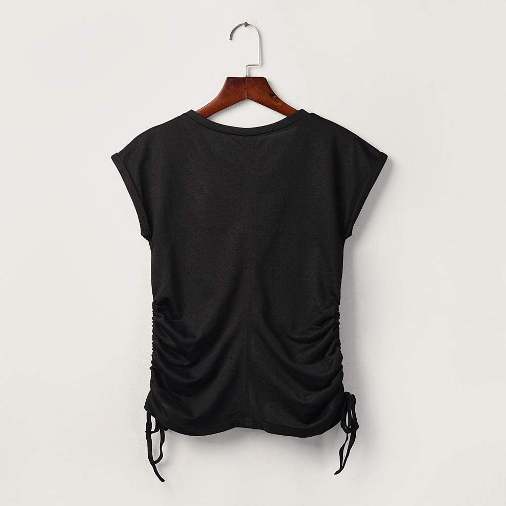 Beihxwe Mens Shirts Loose Blouse Short Sleeve O-Neck T-Shirt Casual Solid Color Tee Shirts for Men