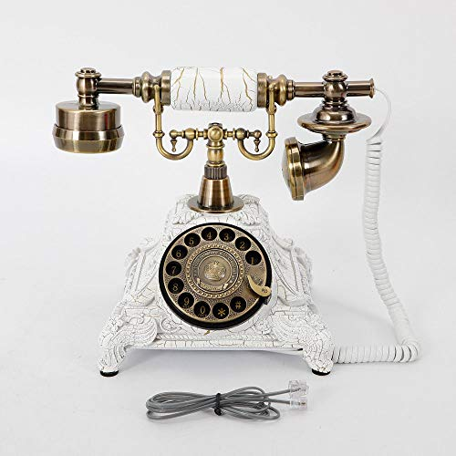 Vintage Rotary Phone,Retro Ring-Tones Vintage Antique Style Telephone for Office Home Hotel USA Stock (Antique Rotary Phone)