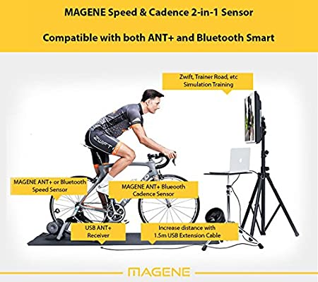 Magene DUAL BAND Wireless Bike Speed Sensor & Cadence Sensor for Bike  Computer, Trainer, iPhone, Android and USB ANT+  Support ANT+ Devices &