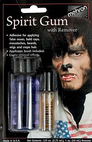 Halloween Facial Makeup (Spirit Gum Costume Makeup Adhesive w/ Remover)