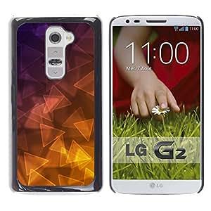 [Neutron-Star] Snap-on Series Teléfono Carcasa Funda Case Caso para LG G2 [Triángulo púrpura oro amarillo]