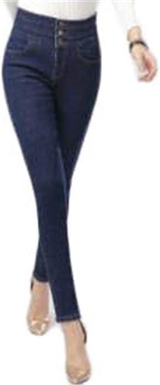 [ンーセンー] ジーンズ レディース デニムパンツ スキニーデニム 裏起毛 美脚 伸びるストレッチ ハイウエスト ロングパンツ スリム レギンスパンツ 冬 温かい 厚手 防寒 伸縮性 ガールズ