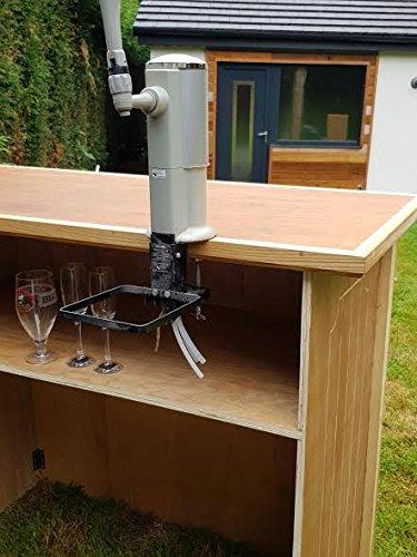 Barra plegable para el aire libre, portátil, de madera de abedul ruso Totalmente personalizable. Ideal para barbacoas, celebraciones, bodas, fiestas, ...