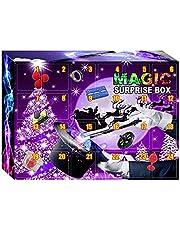 Magische adventskalender voor kinderen, magische speelgoedset, tovertrucs voor kinderen, magische kerst-adventskalender, speelgoed, goocheltrucs