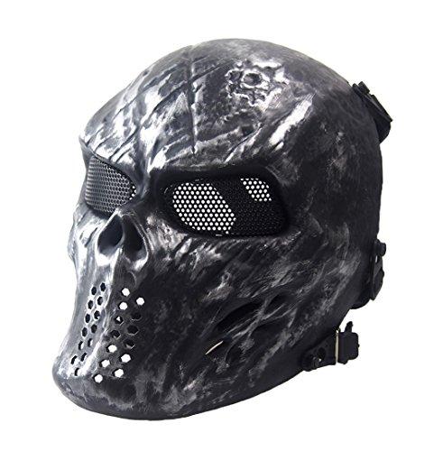 Full Face Airsoft Mask, GTBonad Adjustable Mask, Metal