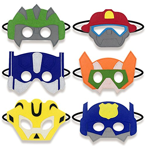 Masks Party Favors Boy Birthday Supplies Novelty Toy Dress Up Costumes Gifts for Boys, 6 Piece -