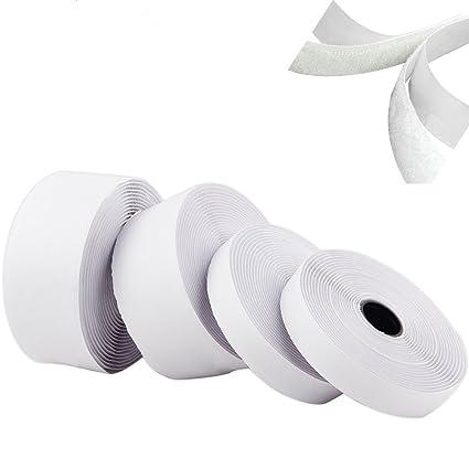 5M Self Adhesive Hook /& Loop Tape 20mm Wide Tape Craft Sticky Back Fastener DIY