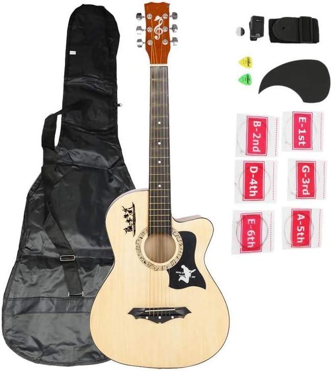 ZGHNAK Guitarra acústica de 38 pulgadas y 18 pulgadas con cuerdas de afinador para cuerdas sintonizadoras para los amantes de la guitarra