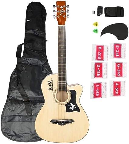 ZGHNAK Guitarra acústica de 38 pulgadas y 18 pulgadas con cuerdas ...