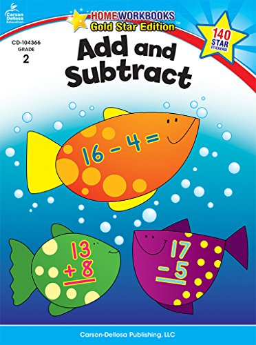 Add and Subtract, Grade 2: Gold Star Edition (Home Workbooks)