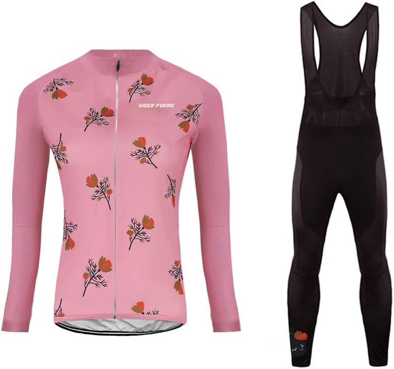 Uglyfrog RTWX01 - Conjunto Largo de Ciclismo para Mujer, Chaqueta y Pantalones de Ciclismo, otoño/Invierno, Mujer, Color Color 24, tamaño XX-Large: Amazon.es: Deportes y aire libre