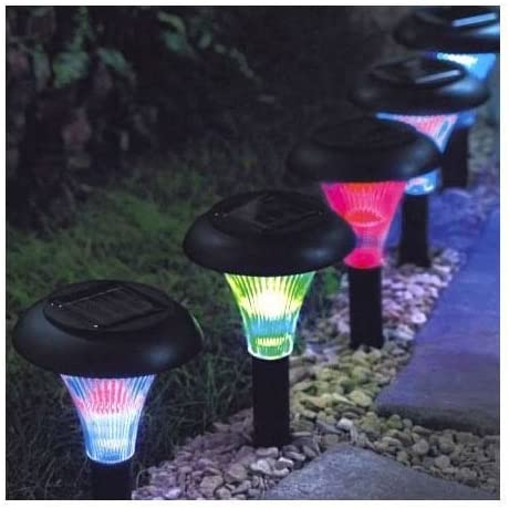 Other 9 Luces de Cristal de Color Solar, para Jardín, Luces de Jardín, Iluminación de Exteriores: Amazon.es: Jardín