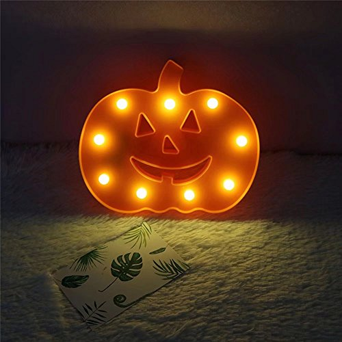 CSKB Cute LED Night Light Lamp for Nursery Kids Childrens Marquee Decorative Table Wall Bedroom Home Decoration Chistmas Halloween Decor (Pumpkin)