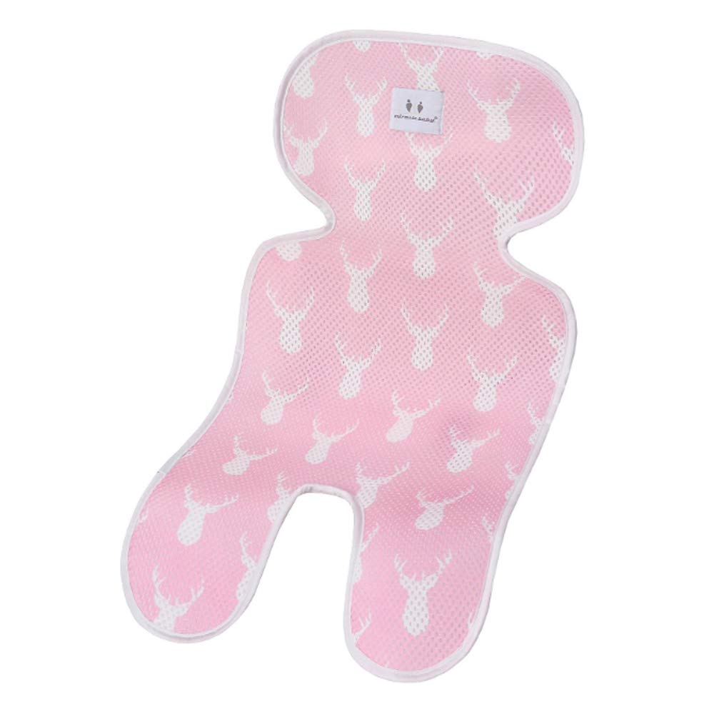 Echo Paths Baby 3D Mesh Cool Seat Pad/Cushion/Liner for Strollers Car Seat Deer Pink One Size by Echo Paths