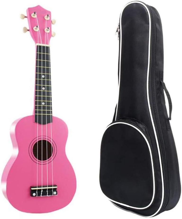 Ukelele 21 pulgadas Basswood Uke Hawaii Guitarra para niños con bolsa de concierto Selecciones de ukelele soprano tradicionales y una cuerda adicional para niños Estudiantes Principiantes Regalos de i: Amazon.es: Hogar