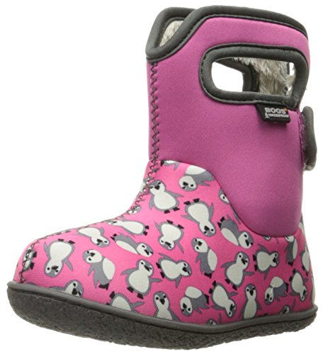 Baby Bogs Classic Boot Winter Penguins Multi Pink Snow gZZdOrBwqx
