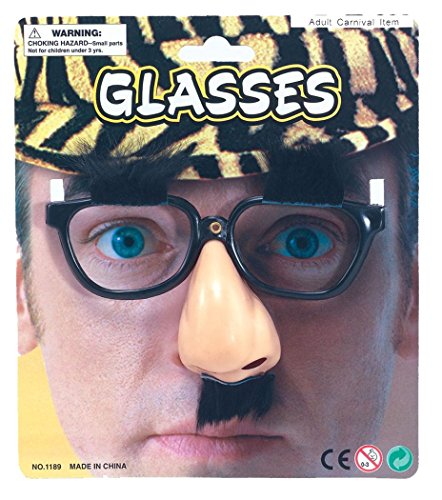 Fancy Party Dress Disguise Funny Novelty Glasses/nose/eyebrows & Tash Uk