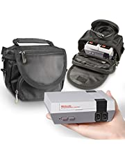 Orzly® Travel & Storage Bag for Nintendo NES Classic Edition (New 2016 Model Mini Version of NES Console) - Fits Console + Cable + 2 Controllers - Includes Shoulder Strap + Carry Handle - Black