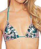 Splendid Women's Triangle Swimsuit Bikini Top, Watercolor Floral Pink, Medium