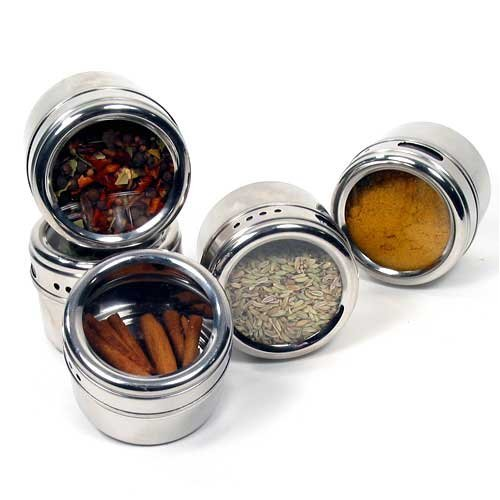 7 Piece Magnetic Spice Rack and Decanters