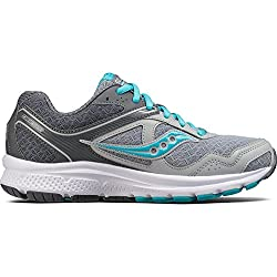 Saucony Women's Cohesion 10 Running Shoe, Grey Blue, 9.5 Medium US