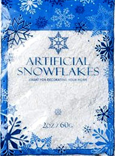 Snow Artificial Flakes 2 Oz Bag Printed Polybag