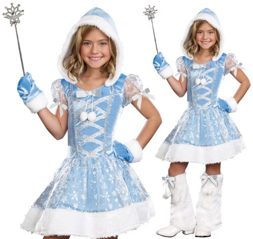 [SugarSugar Kids Snowflake Princess Costume, Small, 4-Piece] (Snowflake Costume For Children)