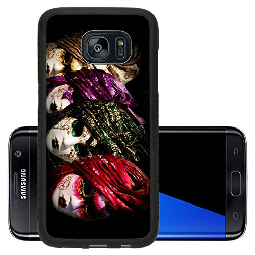 Liili Premium Samsung Galaxy S7 Edge Aluminum Backplate Bumper Snap Case Venetian carnival masks Italy Photo 24927908 - Venetian Casanova Costume