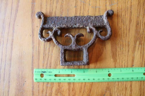 Boot Scrapper Cast Iron shoe mud scrape Vintage farm house decor -