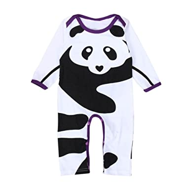 bluestercool romper bebés chicos niñas Panda impresora manga ...