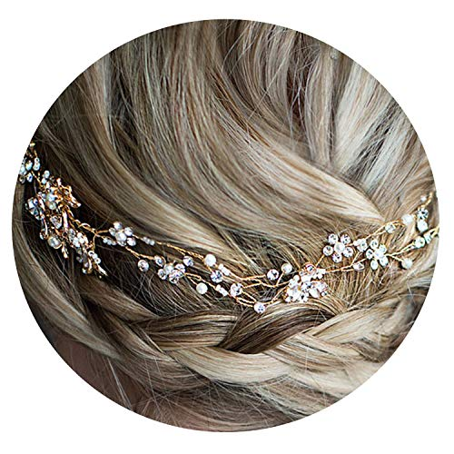 Beautiful Wedding bridal head Crystal Bride Headdress For women Prom Hair Jewelry Accessories,gold