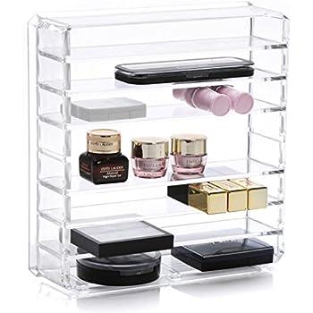 Amazoncom Weiai Acrylic Cosmetic Palette Organizer Makeup Beauty