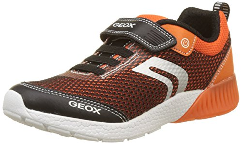 Geox J Sveth B, Baskets Basses Garçon Orange (Black/Orange)