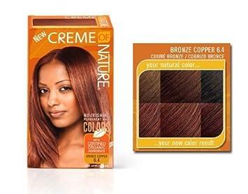 Amazon.com: Creme of Nature Hair Dye Color Bronze Copper 6.4: Beauty