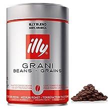 illy Caffe Whole Bean Coffee (Medium Roast), 8.8-Ounce Tins