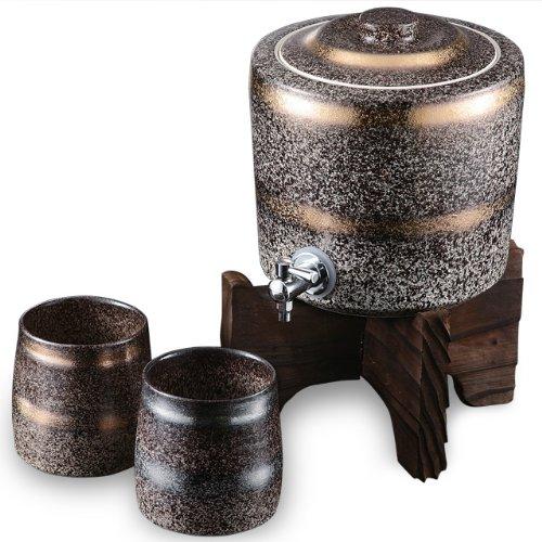 (Distilled Spirits Server Set with Japanese Cedar Stand)