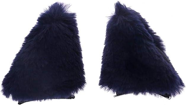 Clip de pelo largo con orejas de zorro, para disfraz de Halloween ...