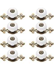 OUNONA 8 stuks meubelknop kastknoppen meubelknoppen set keramiek deurknop