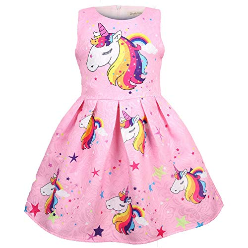 491a5872adac Novelty & More Popshion Little Girls Long Sleeve Casual Cartoon Appliques  Striped Princess Dress Special Occasion ...