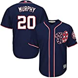 Majestic Daniel Murphy Washington Nationals MLB Youth Navy Alternate Cool Base Replica Player Jersey (Youth X-Large 18-20)