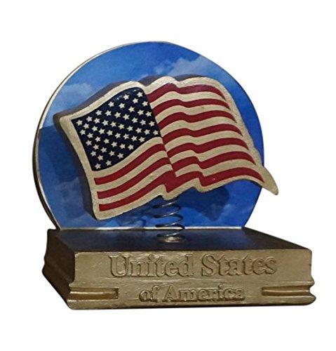 USA Flag Patriotic Bobblehead (gold variant version) (spring-loaded - Variant Bobble Head