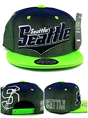 Legend of the Game Seattle New Top Pro Youth Kids II Seahawks Colors Blue Green Era Snapback Hat Cap 19in to 21in Head Size