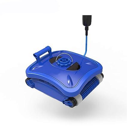 Homeure Robot automático Limpiafondos Eléctrico para Piscinas Fondo y Paredes Limpiafondos Autónomo Aspirador-Alcance de