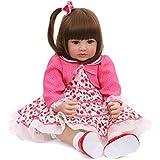Love Bella 23'' Soft Body Cute Realistic Newborn Dolls Lifelike Simulation Baby Dolls for Kids Birthday Accompany Baby's Growth