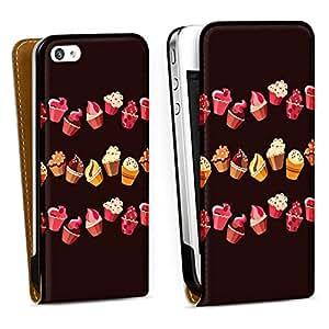 Diseño para Apple iPhone 4 / 4S DesignTasche Downflip white - Chocolate Muffins