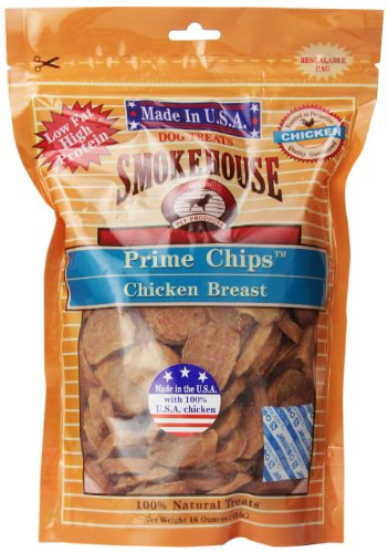 - Smokehouse 100-Percent Natural Prime Chips Chicken Dog Treats, 16-Ounce
