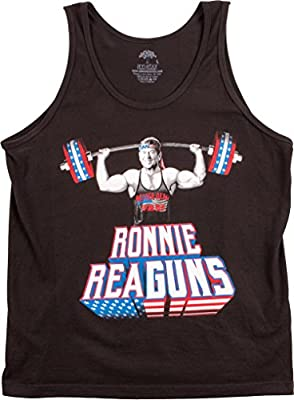 Ronnie ReaGUNS | Funny Ronald Reagan Weight Lifting Work Out Merica USA Tank Top