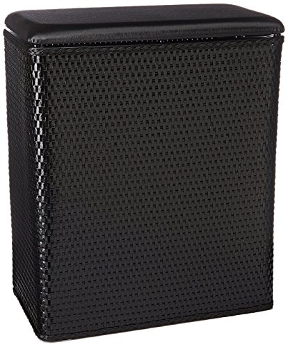 Lamont Home Carter Upright Hamper, Black